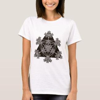 Camiseta Geometria sagrado: Triângulos pretos: