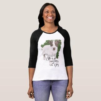 Camiseta George: A vida é melhor com um cão