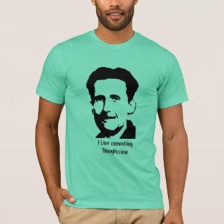 """Camiseta George Orwell """"1984"""" t-shirt das citações -"""