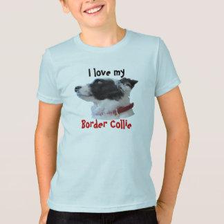 Camiseta georgiacameo, eu amo o meu, border collie
