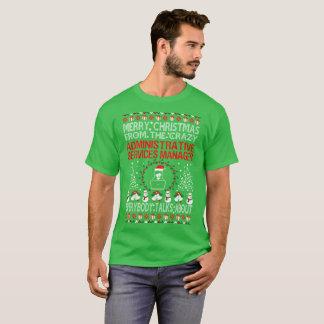 Camiseta Gerente de serviços administrativos do Feliz Natal