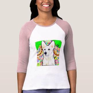 Camiseta German shepherd branco Bling