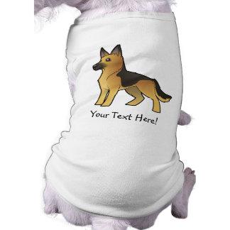 Camiseta German shepherd dos desenhos animados