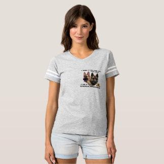 """Camiseta German shepherd """"eu viverei e morrerei para você """""""