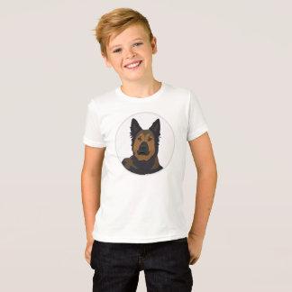 Camiseta German shepherd grande da cara, cão