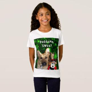 Camiseta German shepherd, rena do brinquedo, flocos de neve