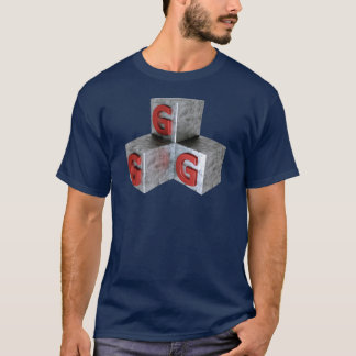 Camiseta GGG - Bons gamers do jogo no metal e na prata da