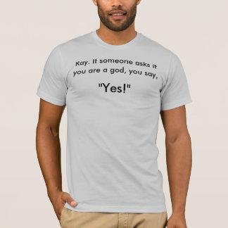 Camiseta Ghostbuster: Se alguém pergunta se você é um deus…