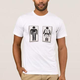 Camiseta Girado sobre interruptor e soquete masculinos e