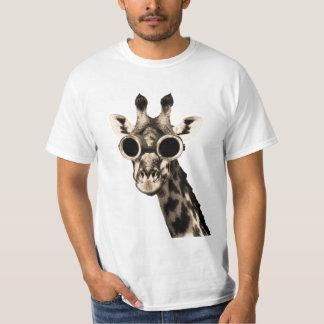 Camiseta Girafa com os óculos de proteção dos óculos de sol