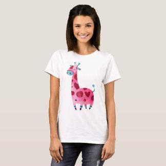 Camiseta Girafa cor de água