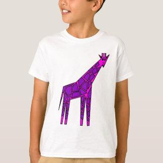 Camiseta Girafa cor-de-rosa