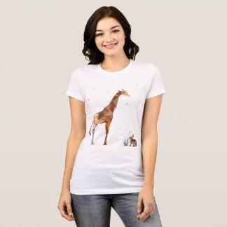 Camiseta Girafa e coelho
