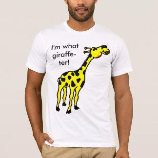 Camiseta girafa, eu sou que girafa-ter!