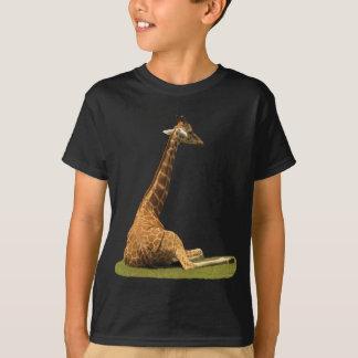 Camiseta Girafa na grama