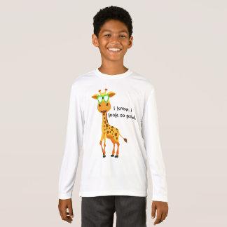 Camiseta girafa no estilo com vidros para o menino