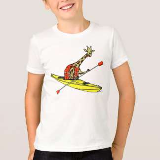 Camiseta Girafa que Kayaking