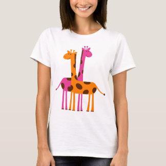 Camiseta Girafas bonitos engraçados, presentes alaranjados