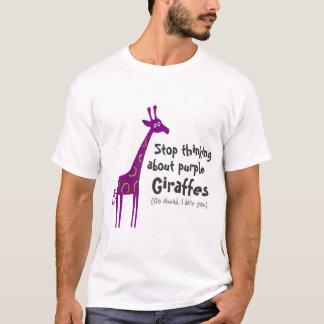 Camiseta Girafas roxos