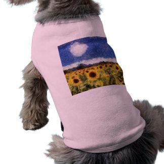 Camiseta Girassóis da noite estrelado