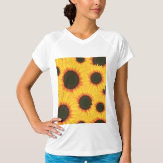 Camiseta Girassol colorido do teste padrão do primavera