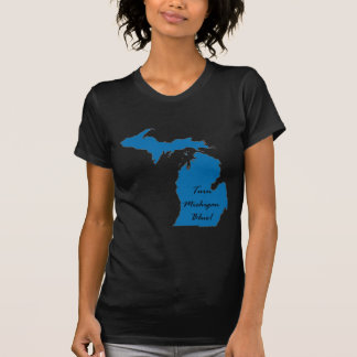 Camiseta Gire Michigan azul! Orgulho Democrática!