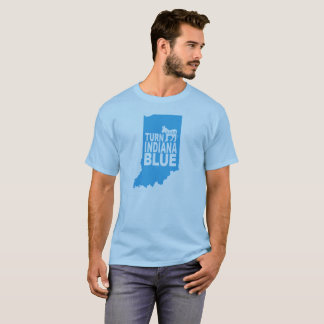 Camiseta Gire o estado progressivo azul do t-shirt | de