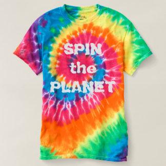 Camiseta Gire o t-shirt da tintura do laço das senhoras do