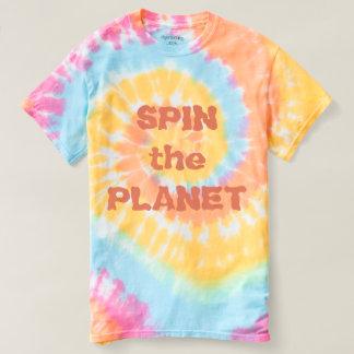 Camiseta Gire o t-shirt Pastel da tintura do laço das