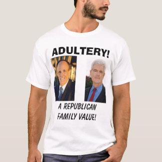Camiseta giuliani, uns valores familiares republicanos! ,