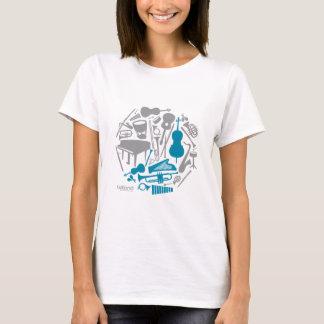 Camiseta Globo da música - mulheres