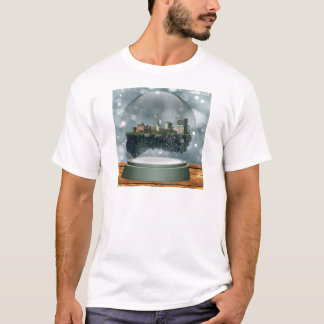Camiseta Globo da neve da ilha do providência