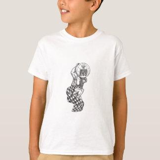 Camiseta Globo de levantamento do atlas que compete o
