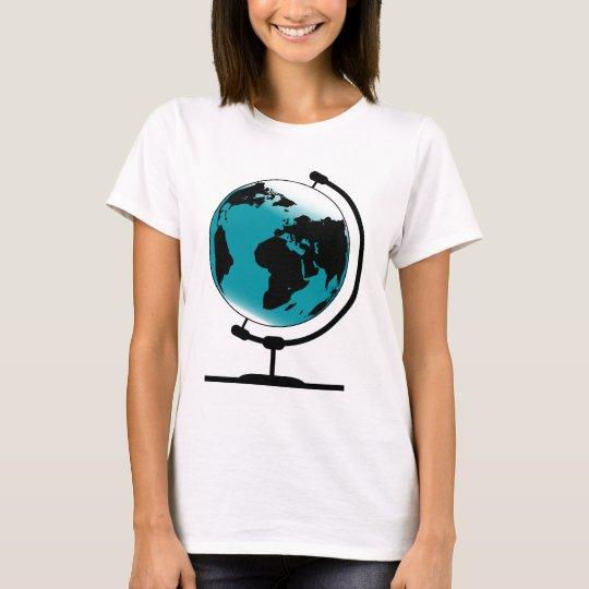 Camiseta Globo montado no giro de giro