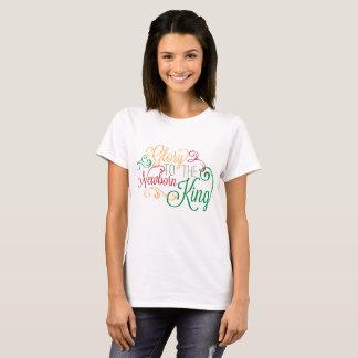 Camiseta Glória ao t-shirt recém-nascido da arte da palavra