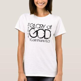 Camiseta Glória do t-shirt do verso da bíblia do deus