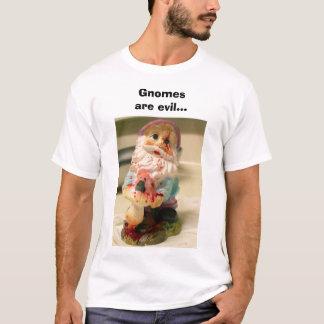 Camiseta gnomes1, gnomos são maus…
