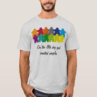 Camiseta God created the meeples