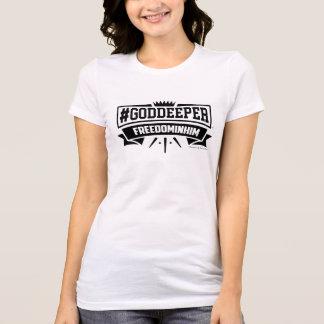 Camiseta #GODDEEPER (TM) - liberdade nele TShirt (branco)