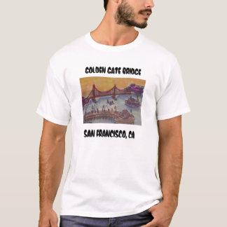 Camiseta golden gate bridge do wf dos fishermans, OURO G…