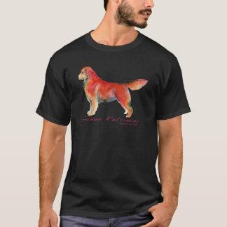 Camiseta Golden retriever em cor viva