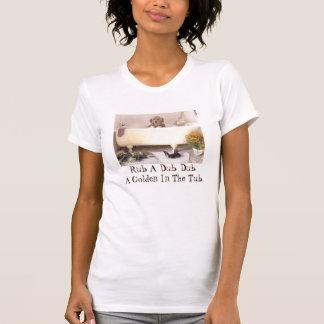 Camiseta Golden retriever no t-shirt da banheira