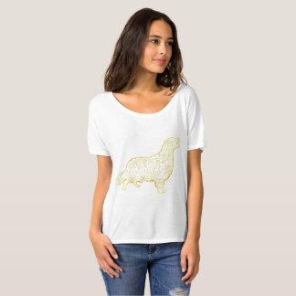Camiseta Golden retriever Slouchy do t-shirt do namorado