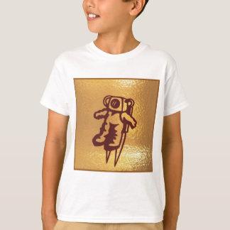 Camiseta Goldstar, estrela, órbita, robô: ASTRONAUTA Gozzlo
