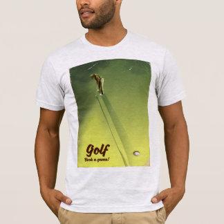 """Camiseta Golfe """"livro poster vintage de um jogo"""""""