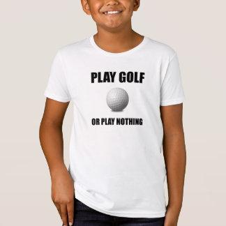 Camiseta Golfe ou nada do jogo