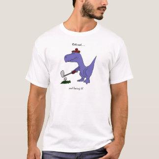 Camiseta Golfing aposentado engraçado do dinossauro de