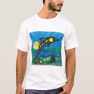 Camiseta Golfinho das ilhas de Havaí Aloha