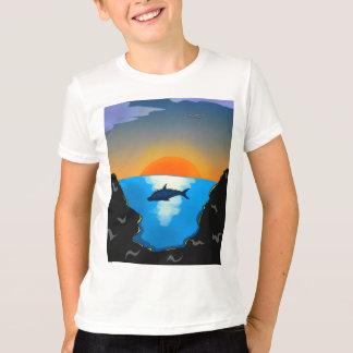 Camiseta Golfinho no mar
