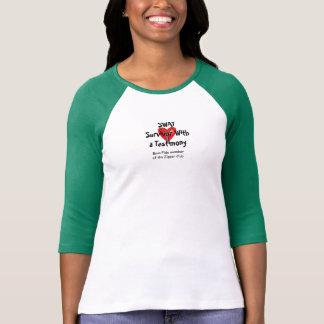 Camiseta GOLPE - sobrevivente com um testemunho - clube do